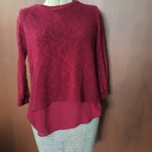 Lucky Brand sweater with shear back.